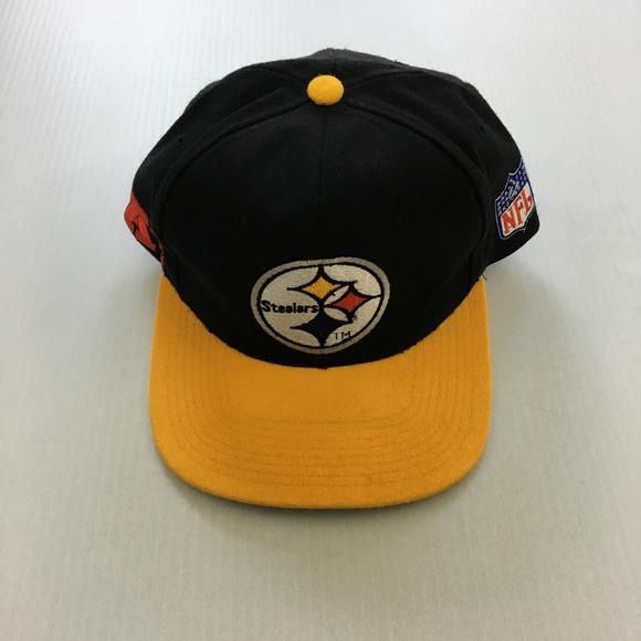 7cb0defd Vintage Pittsburgh Steelers Snapback Hat Starter